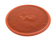 Bowl of jalapeno salsa sauce Royalty Free Stock Photo