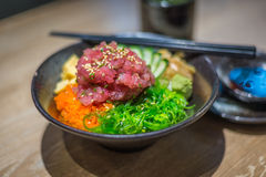Bowl of Japanese healthy food Royalty Free Stock Photo
