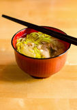 Bowl of japanese ramen Stock Images