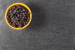 Bowl of Juniper Berries Royalty Free Stock Image