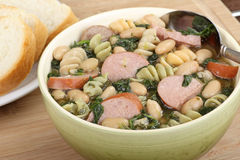 Bowl of Kielbasa Soup Stock Photo