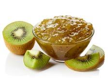 Bowl of kiwi jam Royalty Free Stock Photos