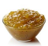 Bowl of kiwi jam Stock Photography