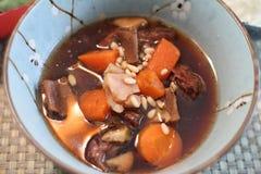 Bowl of Korean beef stew. Known as kalbi jim Stock Image