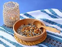 Bowl with kutia � traditional ritual slavic Christmas sweet me Stock Images
