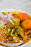 Bowl of laksa. Local dish in malaysia Royalty Free Stock Photo