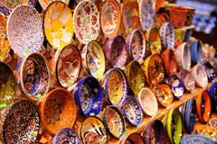 Bowl Landscape. Turkish bowl at market with magnificent colors Royalty Free Stock Image
