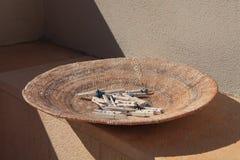 Bowl in Mediterranean sunshine Stock Image