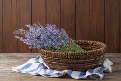 Bowl with lavender flowers royalty free stock photography