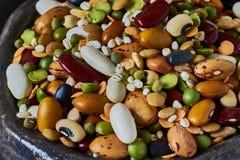 Bowl with legumes, closeup Stock Photos