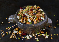 Bowl with legumes, closeup Royalty Free Stock Image