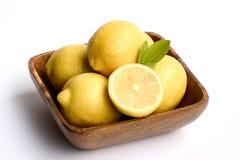 Bowl of lemons Stock Images