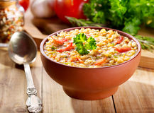 Bowl of lentil soup Royalty Free Stock Photos
