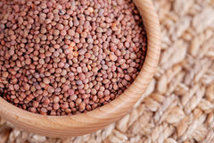 Bowl of lentils Stock Images