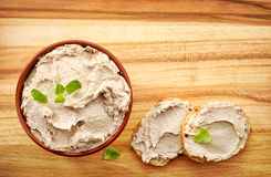 Bowl of liver pate Royalty Free Stock Photos