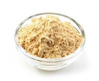 Bowl of maca powder Royalty Free Stock Image
