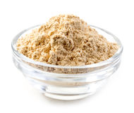 Bowl of maca powder Stock Images