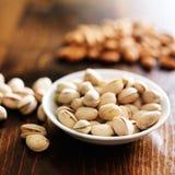 Bowl of macadamia nuts Stock Photo