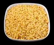 Bowl of macaroni Stock Images