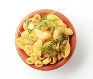 Bowl of macaroni Royalty Free Stock Photos