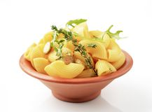 Bowl of macaroni Royalty Free Stock Photography