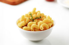 Bowl of macaroni Stock Photography