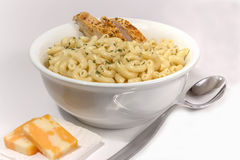 Bowl of macaroni and cheese Stock Image