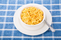 Bowl of Macaroni and Cheese with Red Pepper Royalty Free Stock Image