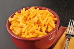 Bowl of macaroni and cheese Stock Photos