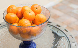 Bowl of Mandarin Oranges Royalty Free Stock Photography