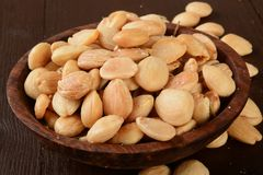 Bowl of marcna almonds Royalty Free Stock Photography