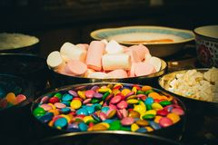 Bowl of Marshmallow Royalty Free Stock Images