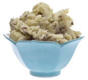 Bowl of Mashed Potatoes Royalty Free Stock Images