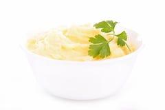 Bowl of mashed potatoes Stock Image