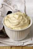 Bowl of Mayonnaise Stock Photo