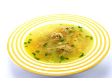 Bowl of meat soup Royalty Free Stock Photos