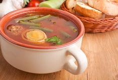 Bowl of Meatball Soup Royalty Free Stock Photos