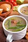 Bowl of Meatball Soup Royalty Free Stock Images