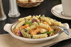 Bowl of Mediterranean Pasta Salad Royalty Free Stock Photography