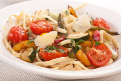 Bowl of mediterranean pasta Stock Photography