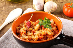 Bowl of Mexican beans Royalty Free Stock Photo