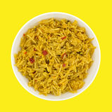 Bowl of Mexican rice Stock Photography