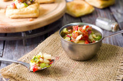 Bowl of Mexican salsa Royalty Free Stock Image