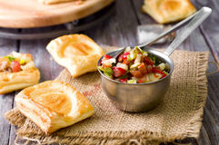Bowl of Mexican salsa Stock Images