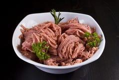 Bowl of minced pork Stock Photos