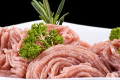 Bowl of minced pork Royalty Free Stock Image