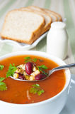 Bowl of minestrone soup Stock Image