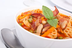 Bowl of Minestrone Soup Royalty Free Stock Image