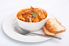 Bowl of Minestrone Soup Stock Photo