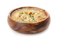 Bowl of Minestrone soup. Bowl of hot fresh Minestrone soup Stock Image